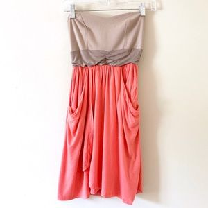 Green Envelope Pull on Coral sun dress